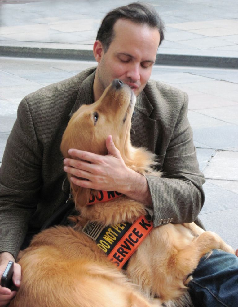 Bestselling Author Luis Carlos Montalvn And Service Dog Speak At