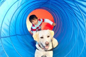 Service Animals help children
