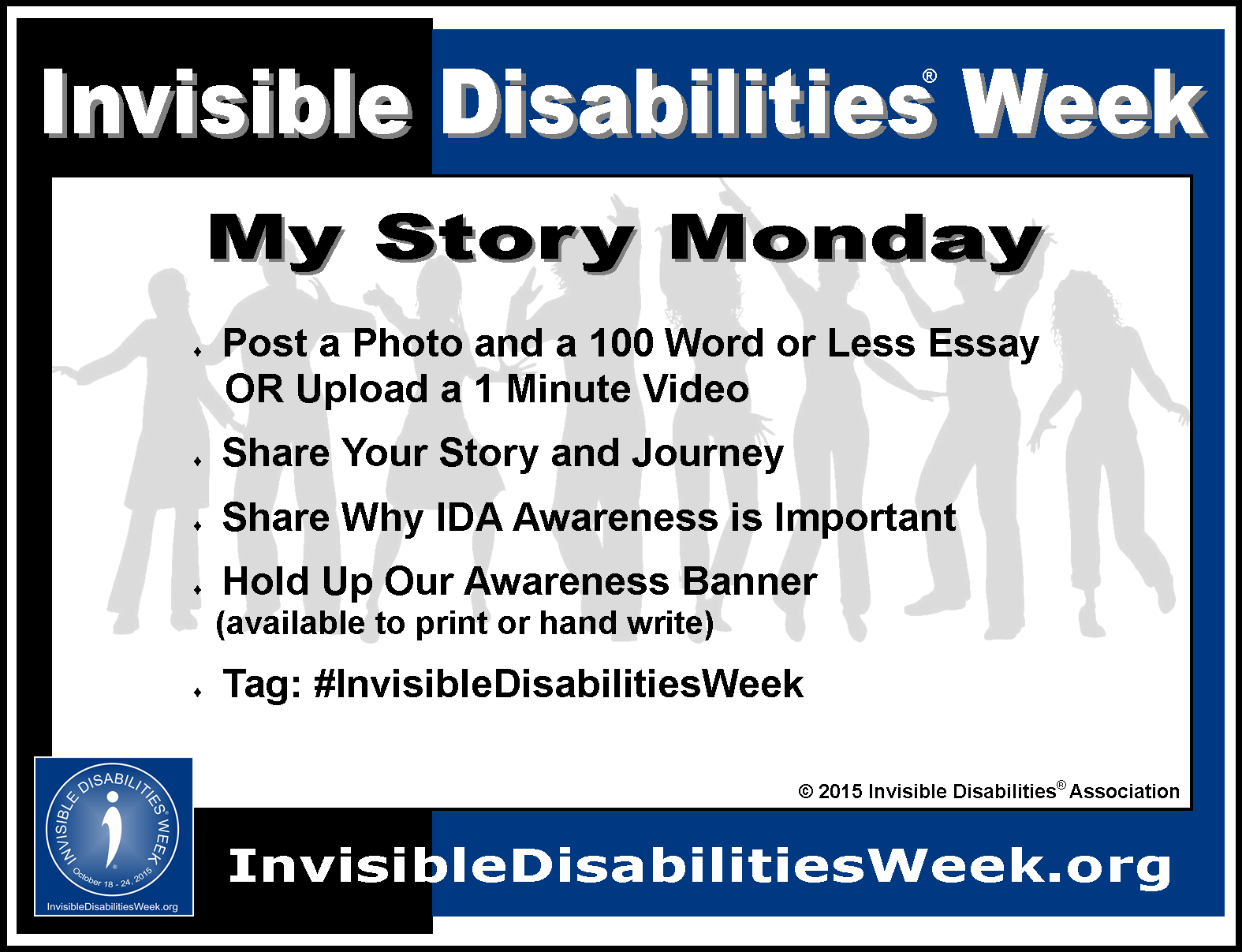 my story monday oct invisible disabilities week  meme link for my story monday