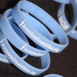 Invisible Disabilities Wristband -- Shine a Light and Be Invisible No More