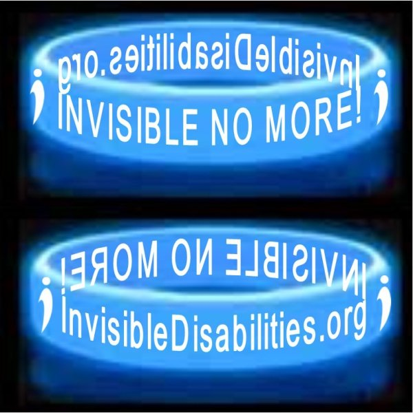 Invisible No More Glow-N-The-Dark Wristbands Product for sale Invisible Disabilities Association