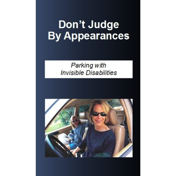 Accessible Parking Brochure - Don't Judge By Appearances - 25 Pack