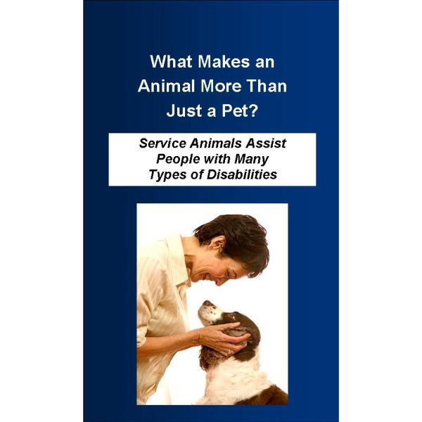 More Than Just a Pet Pamphlet 25-Pack Product for sale Invisible Disabilities Association