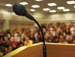 speak-at-podium