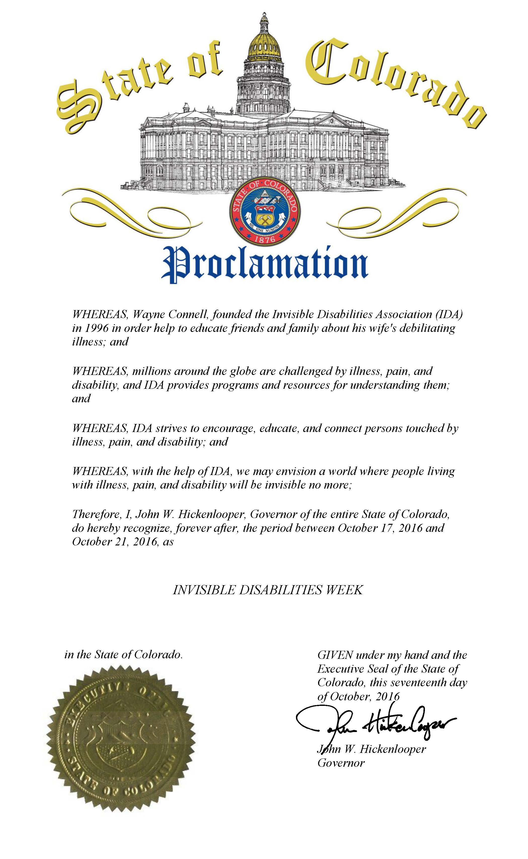 colorado-governor-proclaims-invisible-disabilities-week-2016