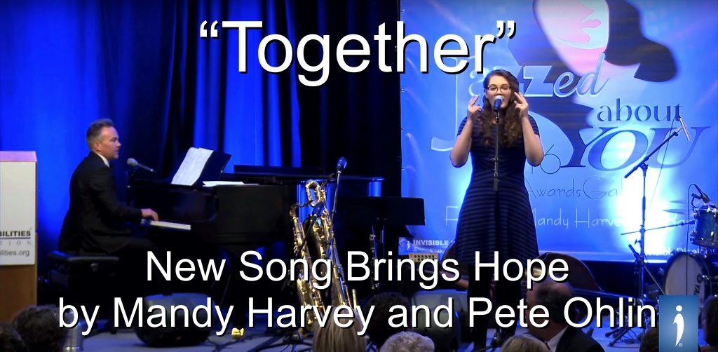 "New Single by Mandy Harvey and Pete Ohlin, ""Together"" This song brings hope to millions living with invisible disabilities."