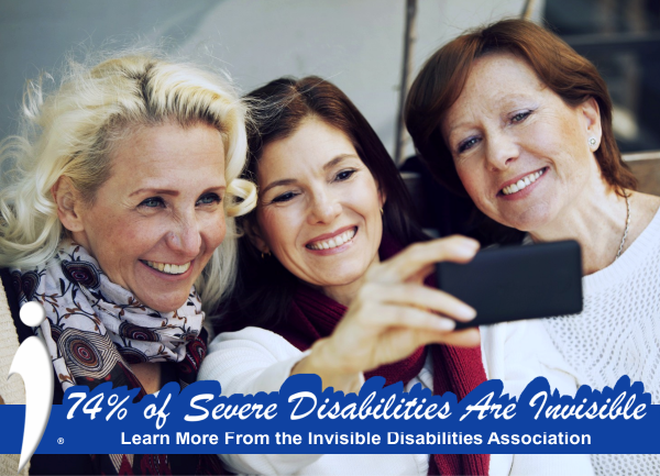 Invisible Disabilities Assoc Facebook Frame - 74% Severe Disabilities are Invisible Friends