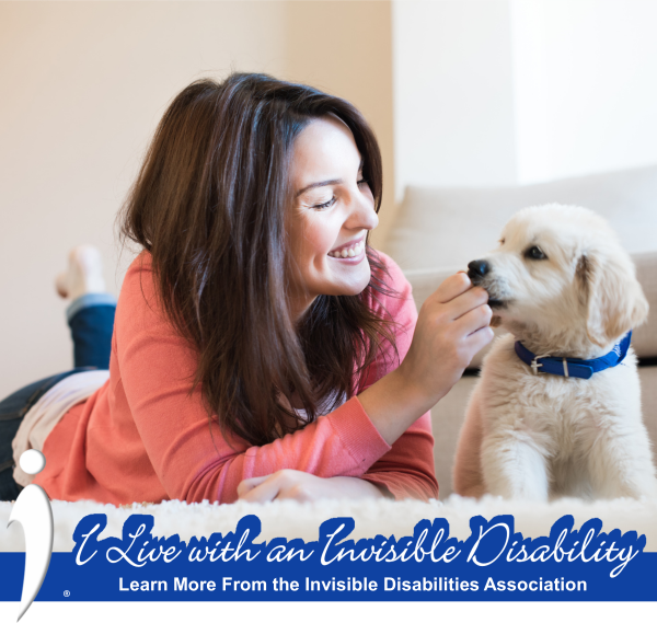 Invisible Disabilities Assoc Facebook Frame Woman and Dog
