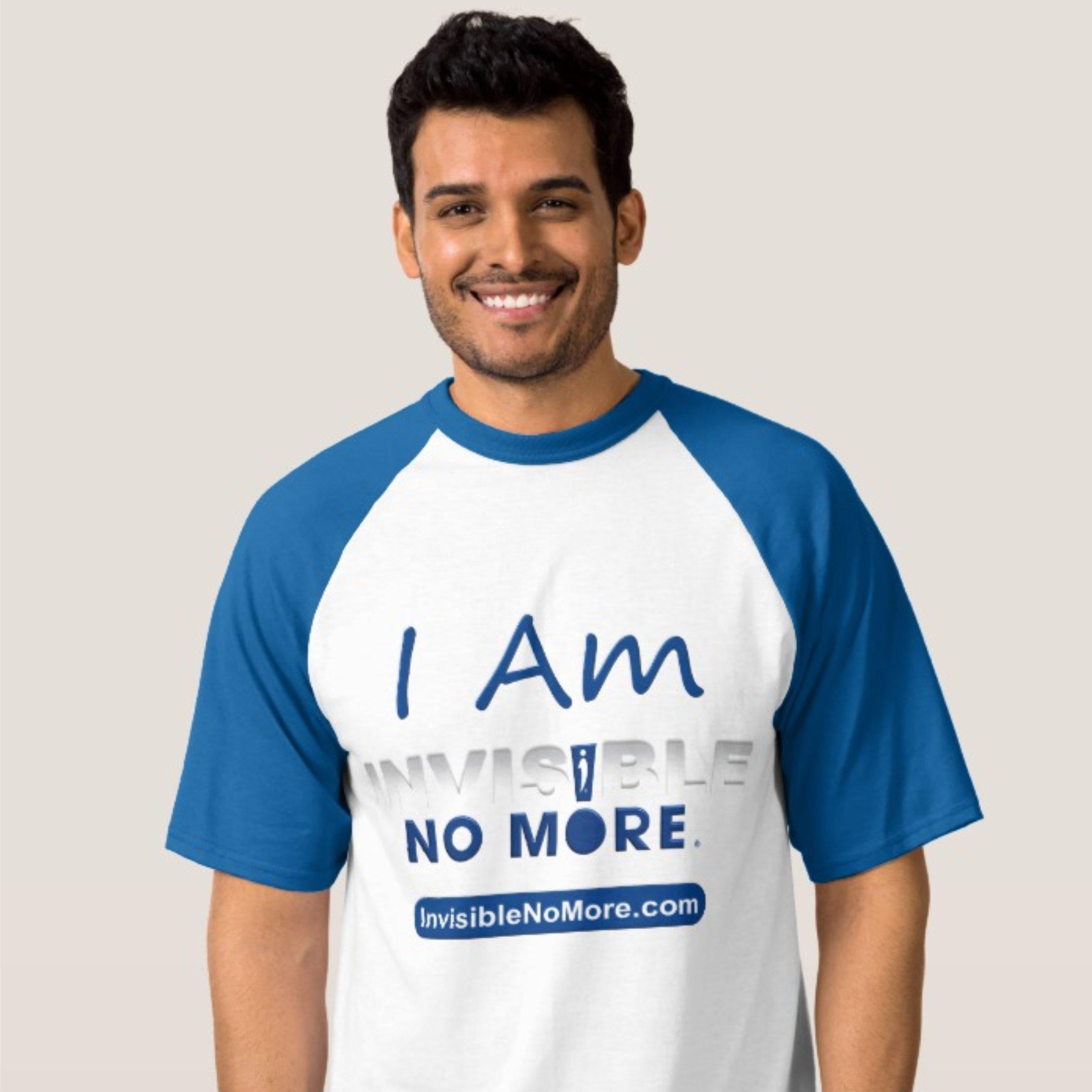 I Am Invisible No More Men's Baseball Shirt