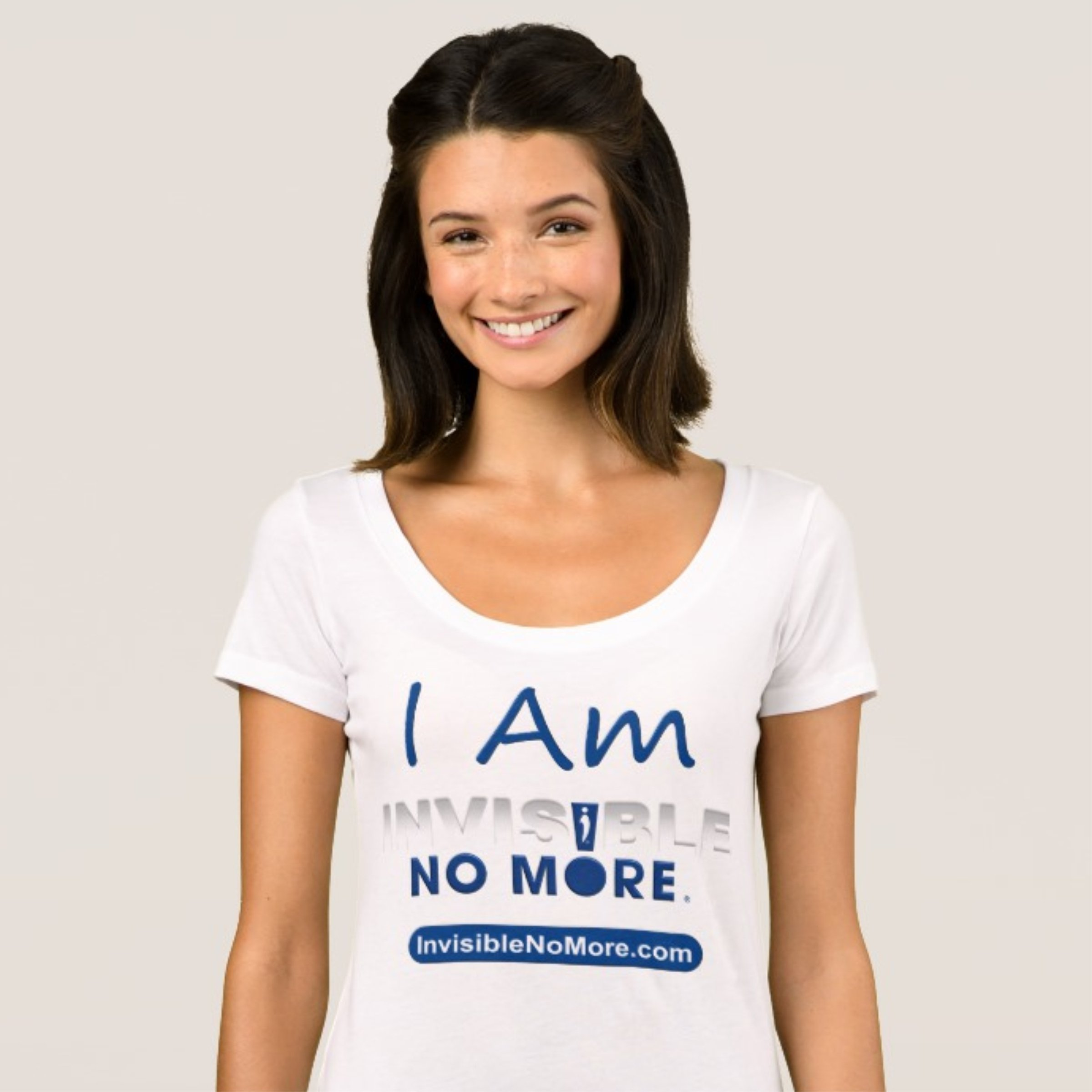 I Am Invisible No More Women's Scoop Neck Shirt