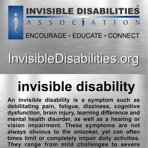 Invisible Disability Definition Cards - 250 Pack