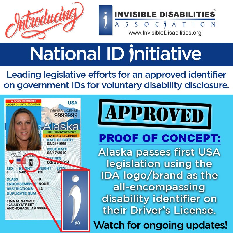 Announcing Alaska Adopts Invisible Disabilities Association National ID