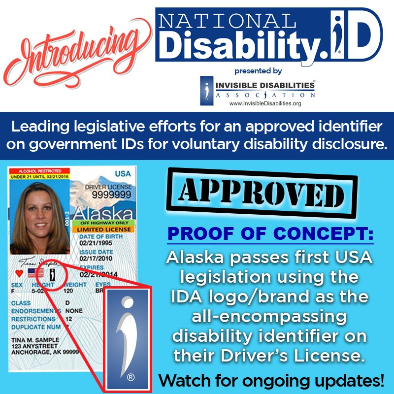 Announcing Alaska Adopts Invisible Disabilities Association National Disability ID
