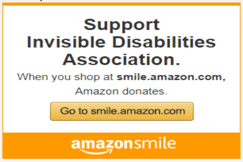 Amazon Smiles Supports - Invisible Disabilities Association