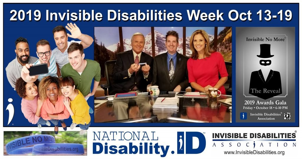 2019 Invisible Disabilities Week is Here Oct 13th - 19th