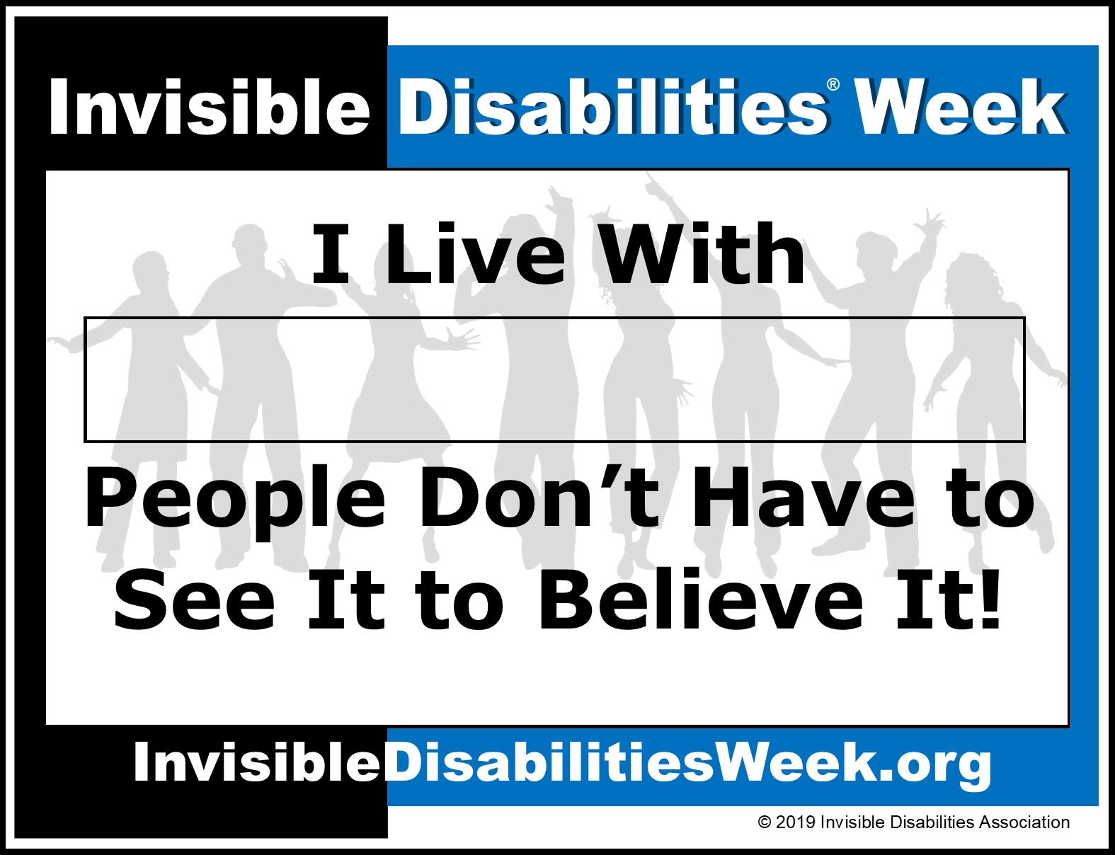 Invisible Disabilities Week Banner Believe It