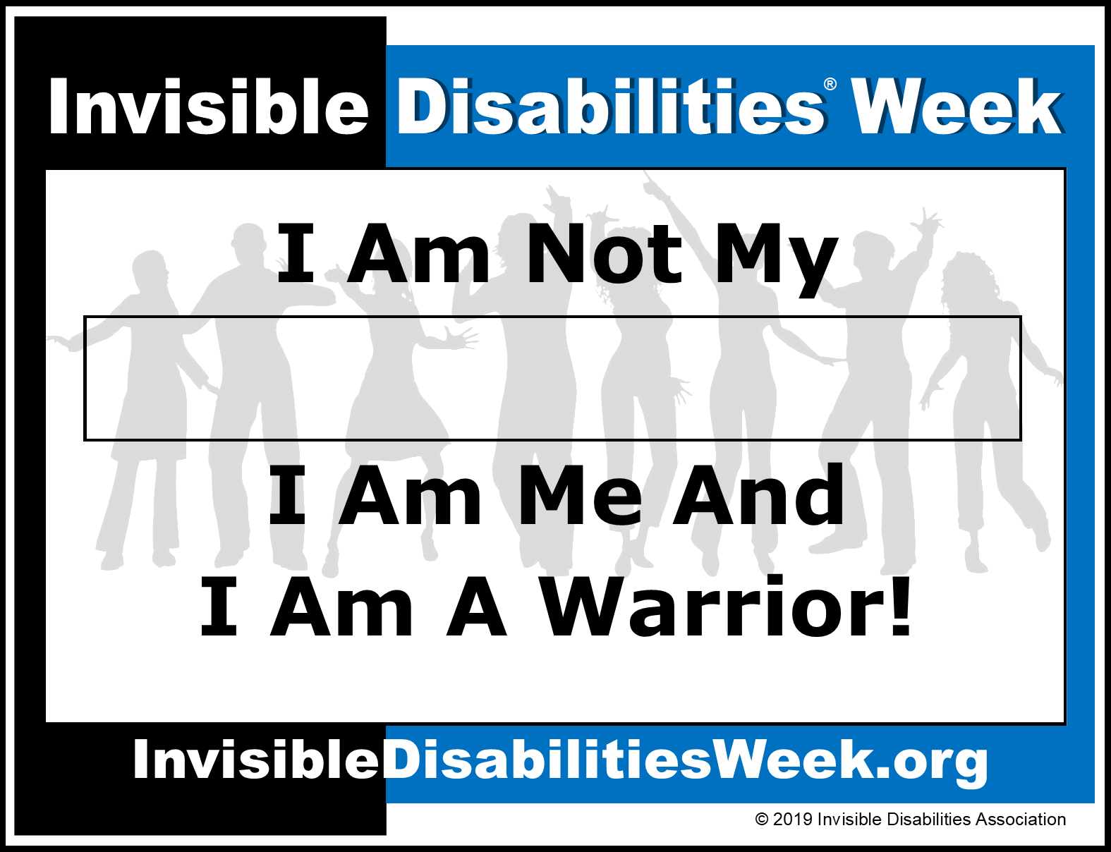 Invisible Disabilities Week Banner I Am A Warrior