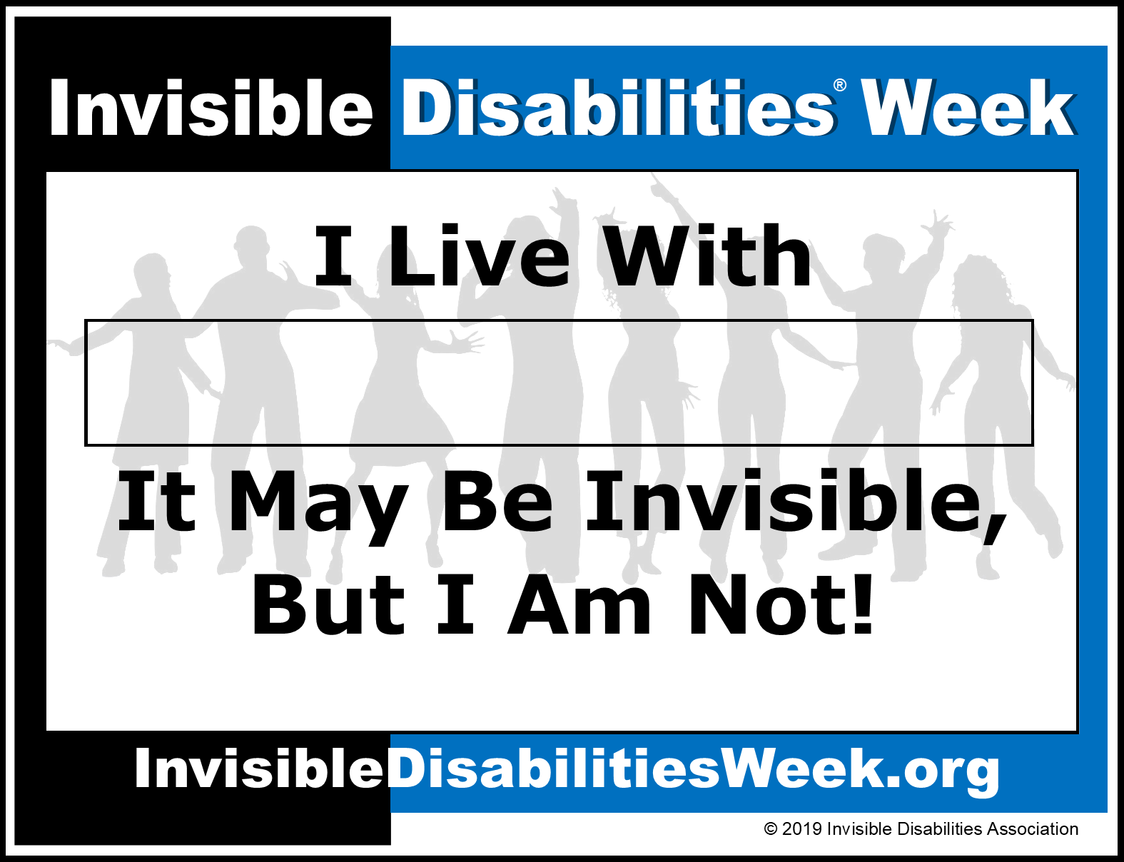 Invisible Disabilities Week Banner I Am Not Invisible