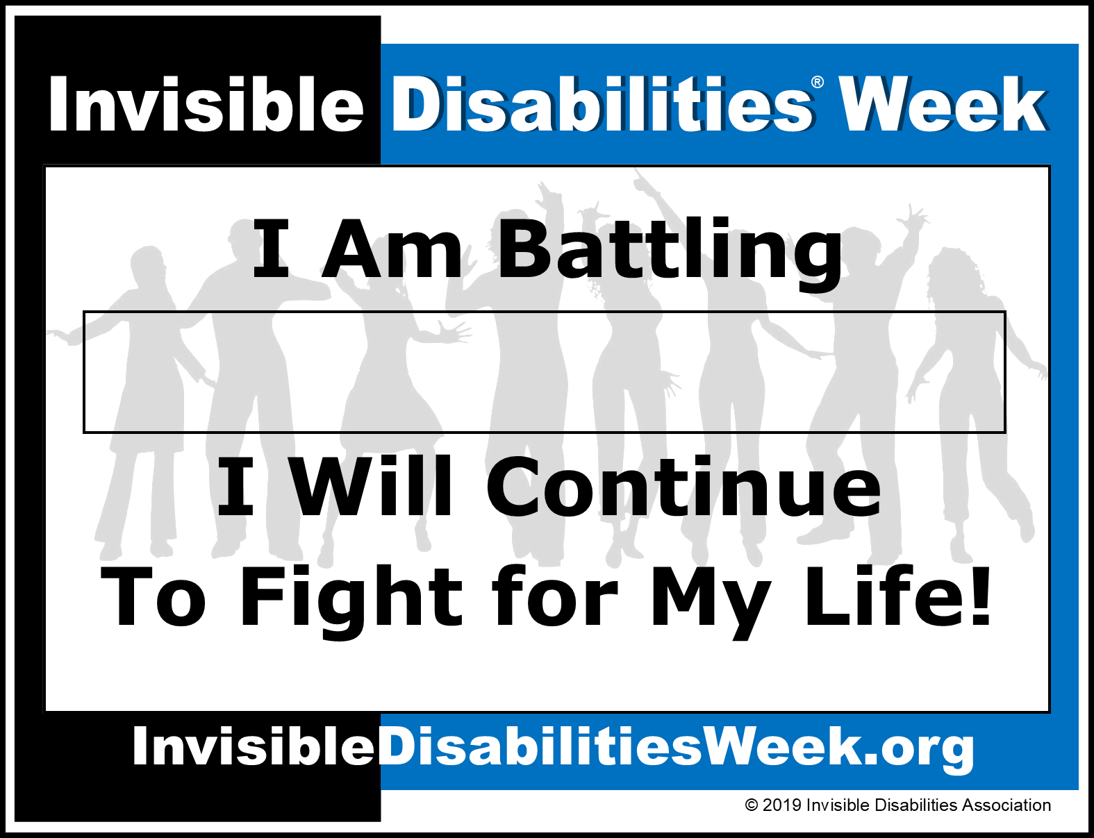 Invisible Disabilities Week Banner I Will Fight