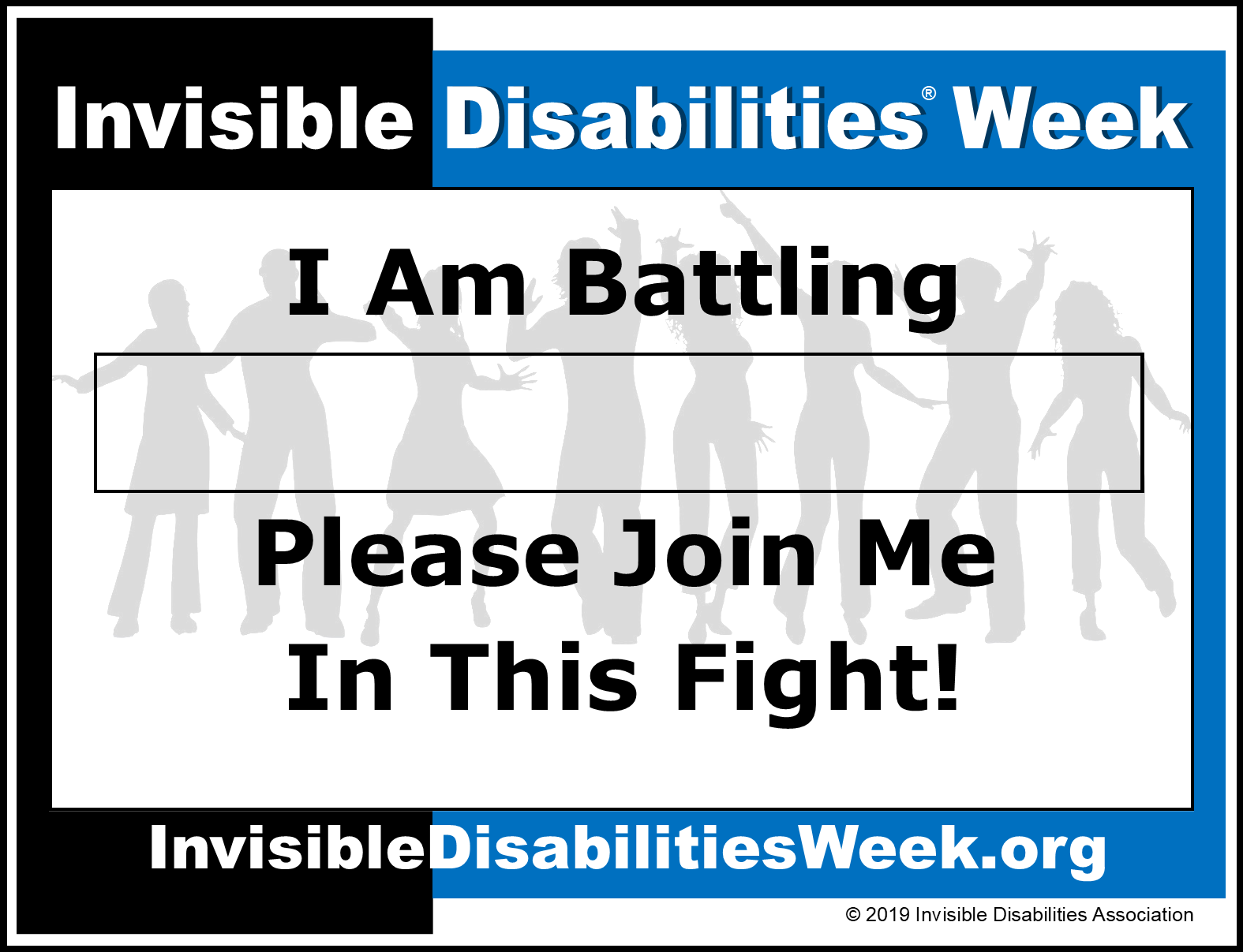 Invisible Disabilities Week Banner Join Me Fight