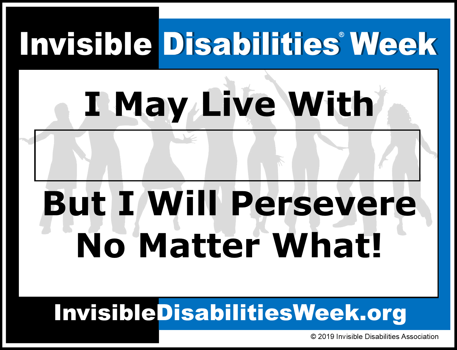 Invisible Disabilities Week Banner Persevere