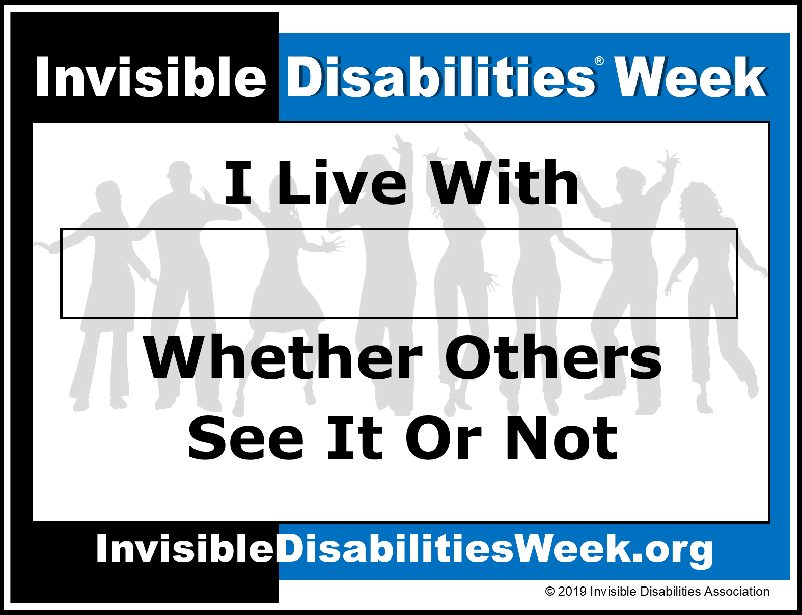 Invisible Disabilities Week Banner See It Or Not