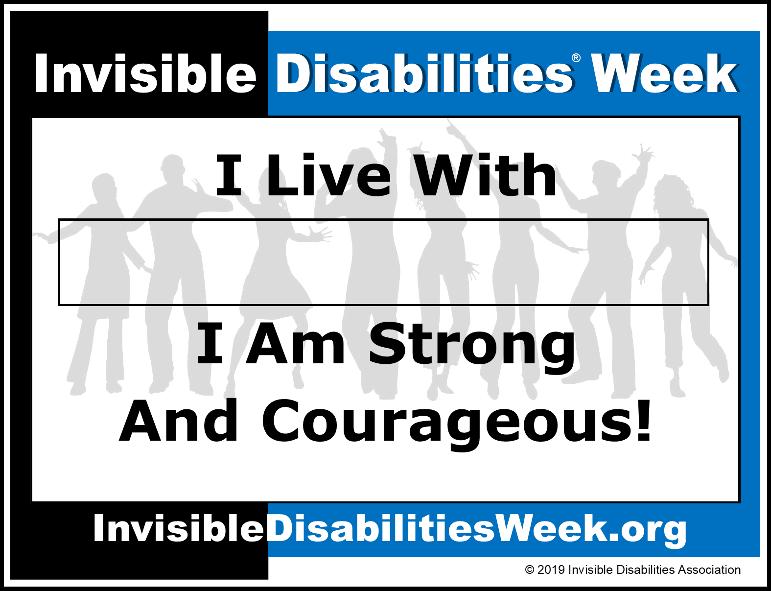 Invisible Disabilities Week Banner Strong and Courageous