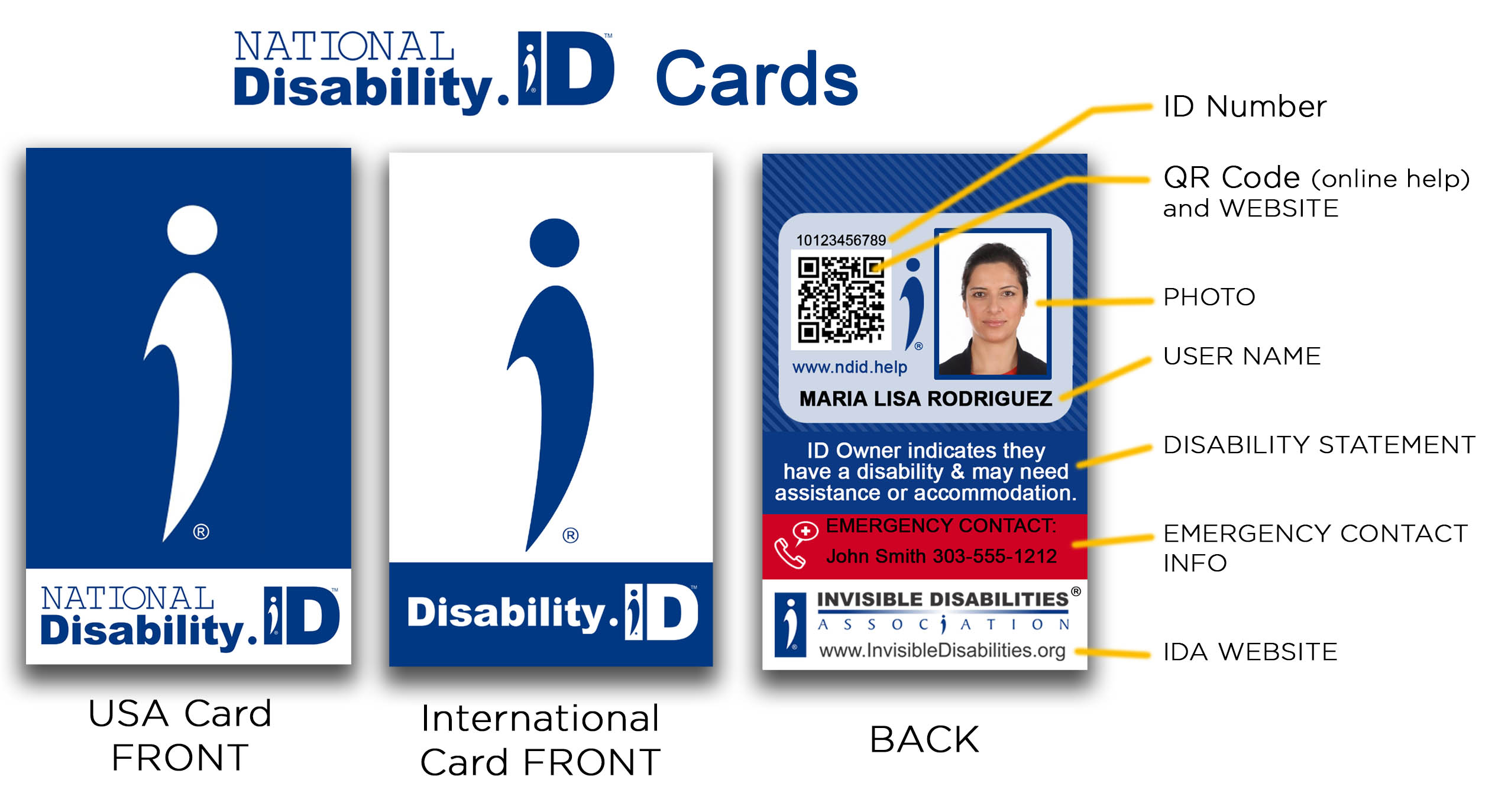 National Disability ID Card - International Disability ID Badge - Invisible Disabilities Association