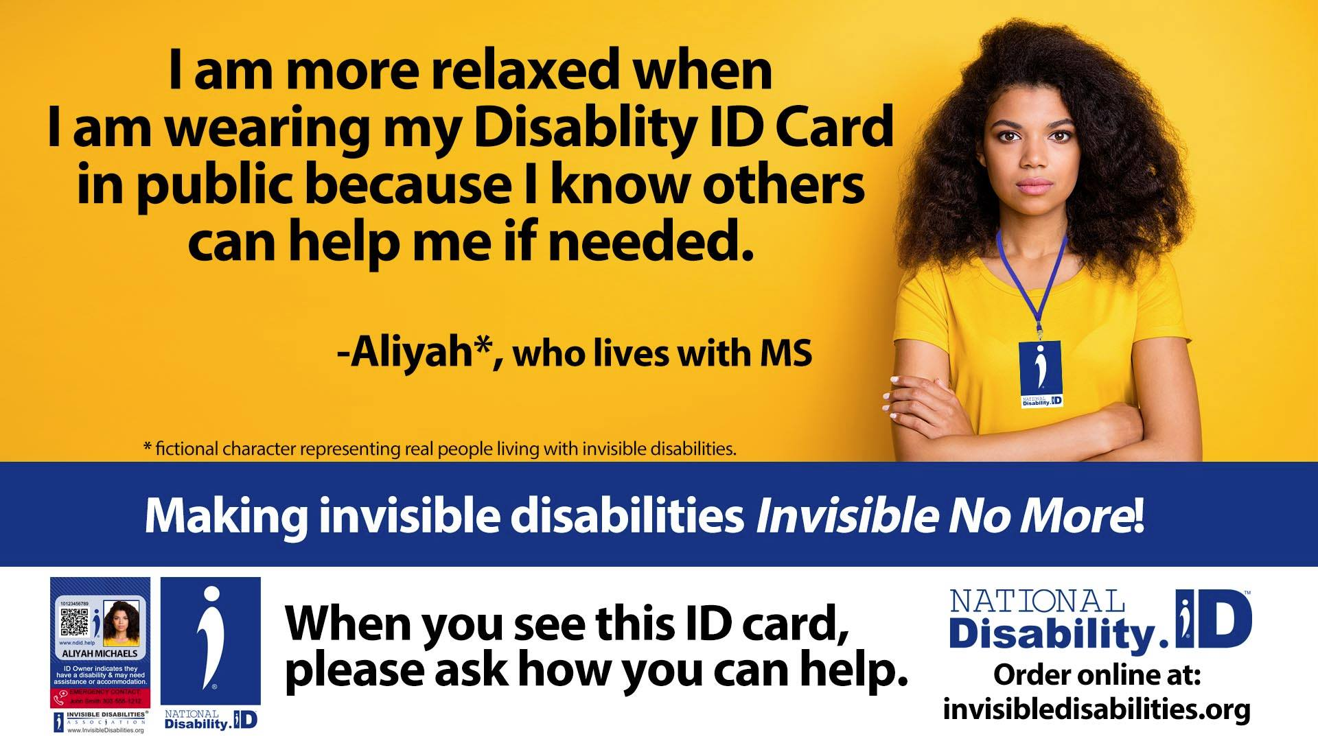 Disability ID Card - National Disability ID initiative - Multiple Sclerosis MS - Invisible Disabilities Association