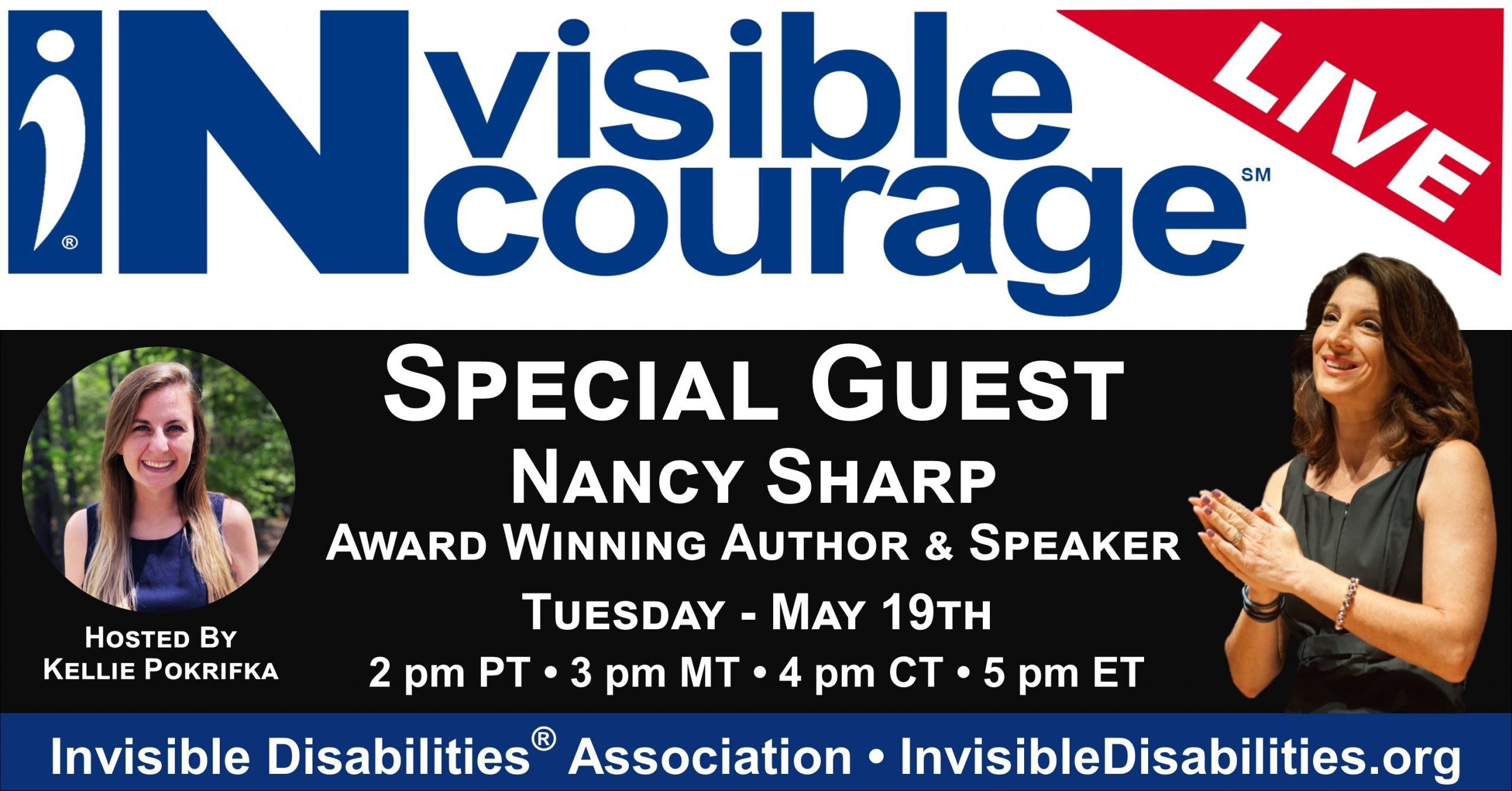 InVisible Encourage Live with Nancy Sharp, Author, Speaker - Invisible Disabilities Association