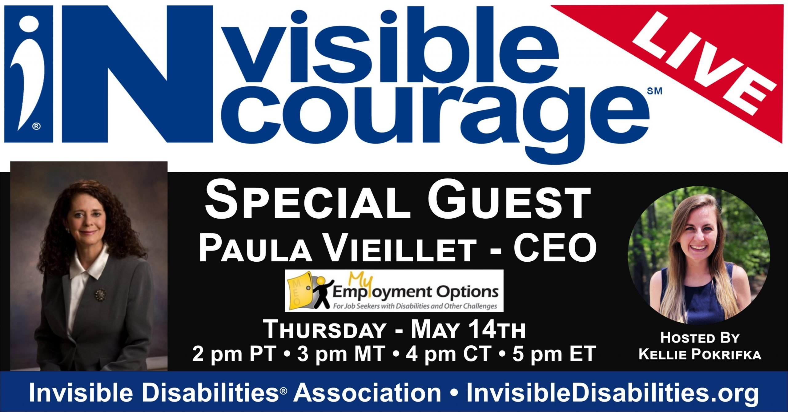 InVisible Encourage Live with Paula Vieillet, CEO - Employment Options - Invisible Disabilities Association