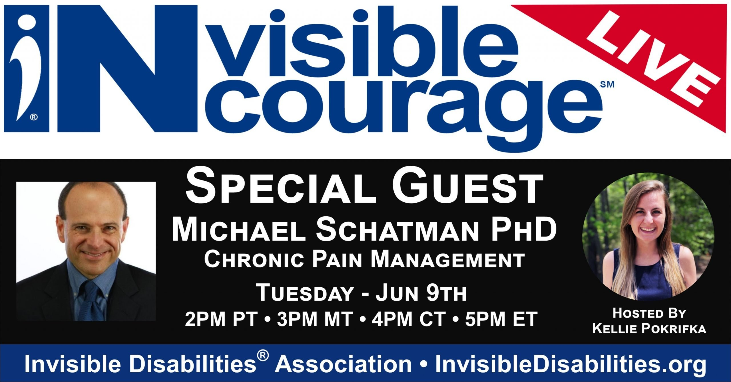 InVisible InCourage Live with Michael Schatman PhD – Chronic Pain Management - Invisible Disabilities Association