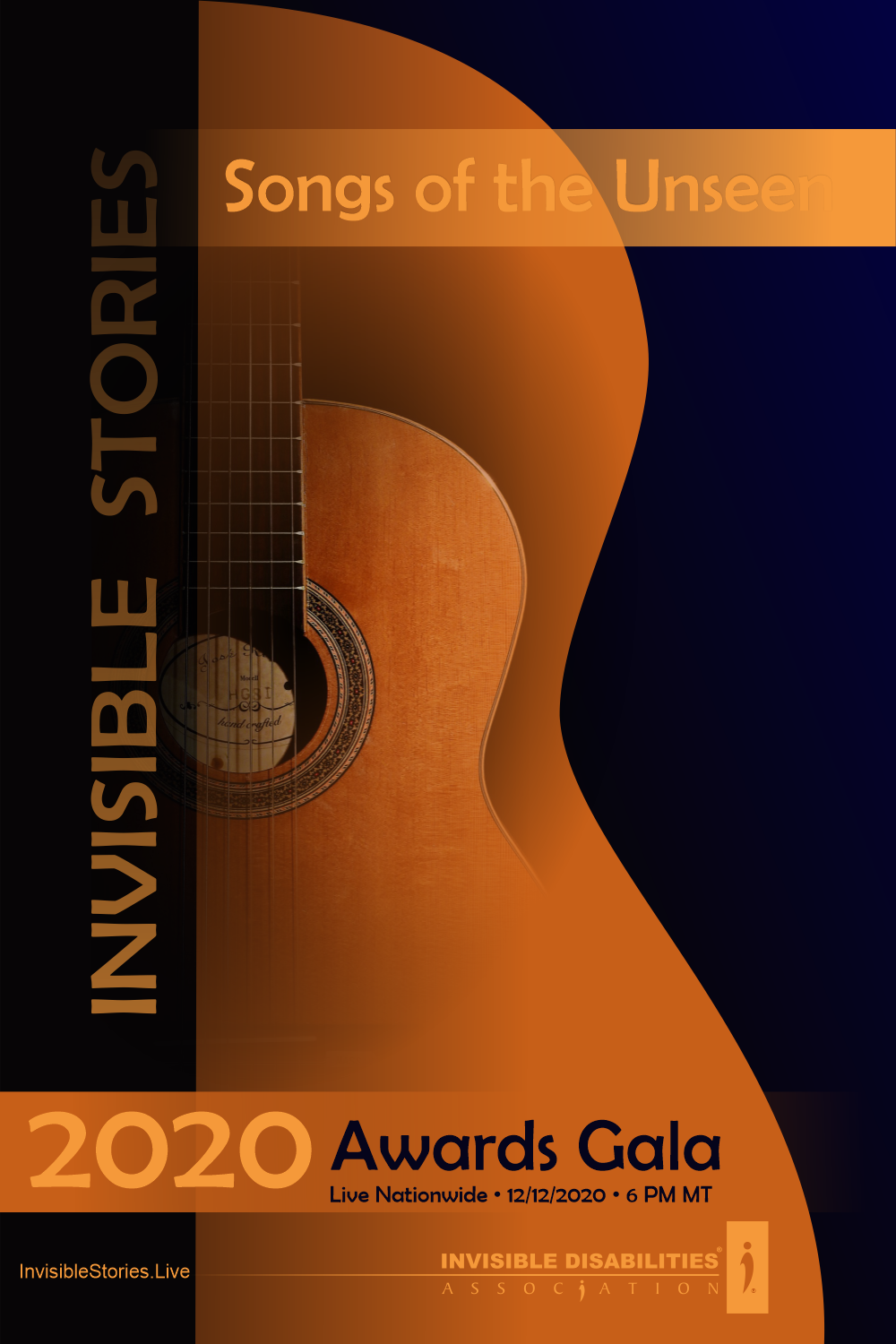 2020 Awards Gala Logo - Invisible Stories - Invisible Disabilities Association - 12-12-2020