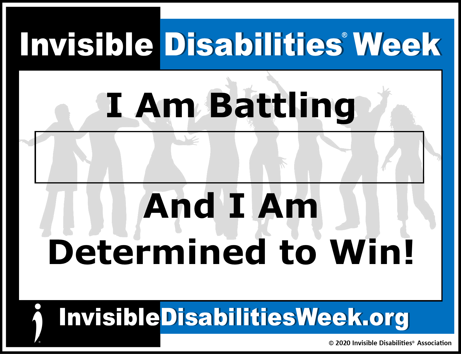 2020 Invisible Disabilities Week Banner Determined - Invisible Disabilities Association