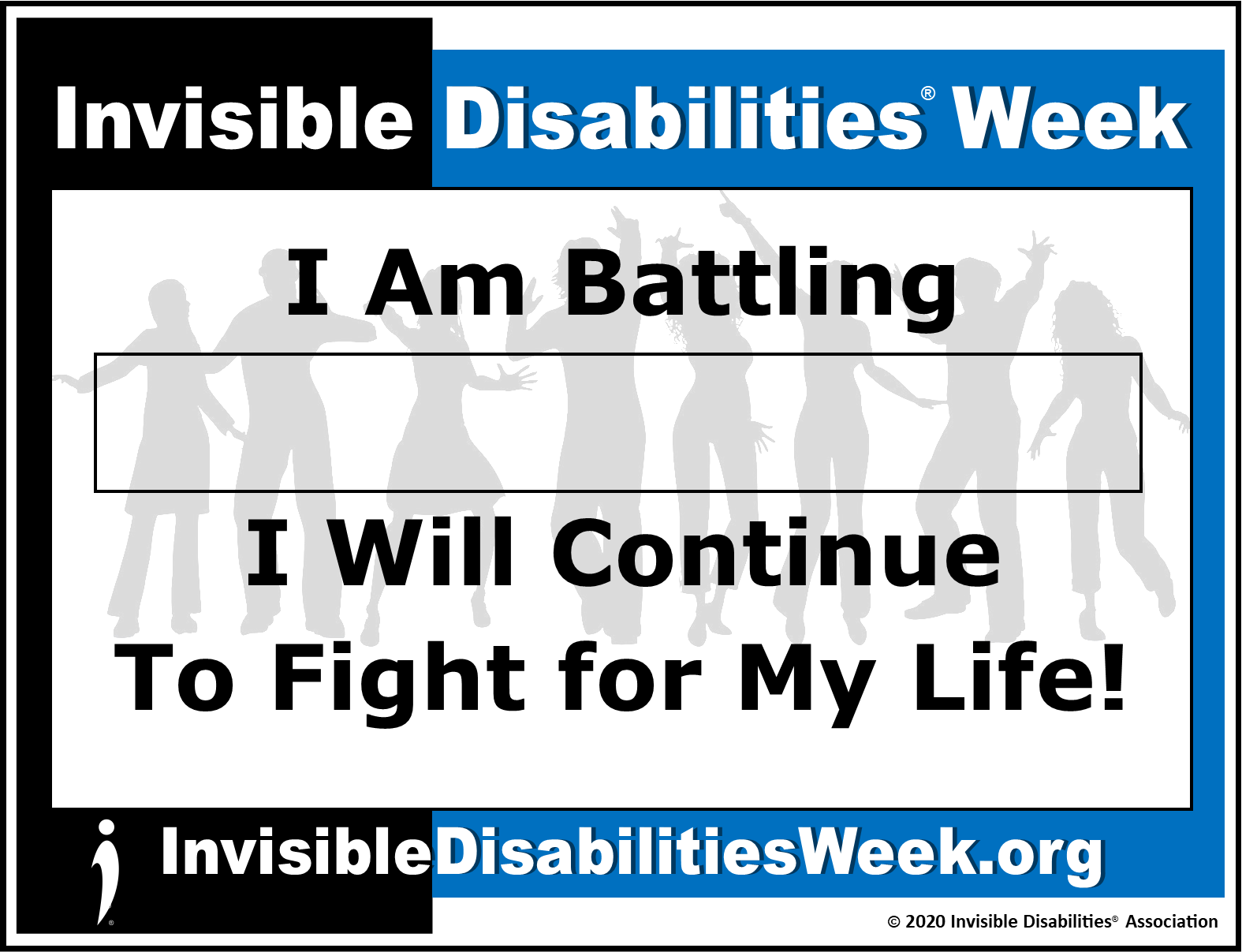 2020 Invisible Disabilities Week Banner Fight for Life - Invisible Disabilities Association