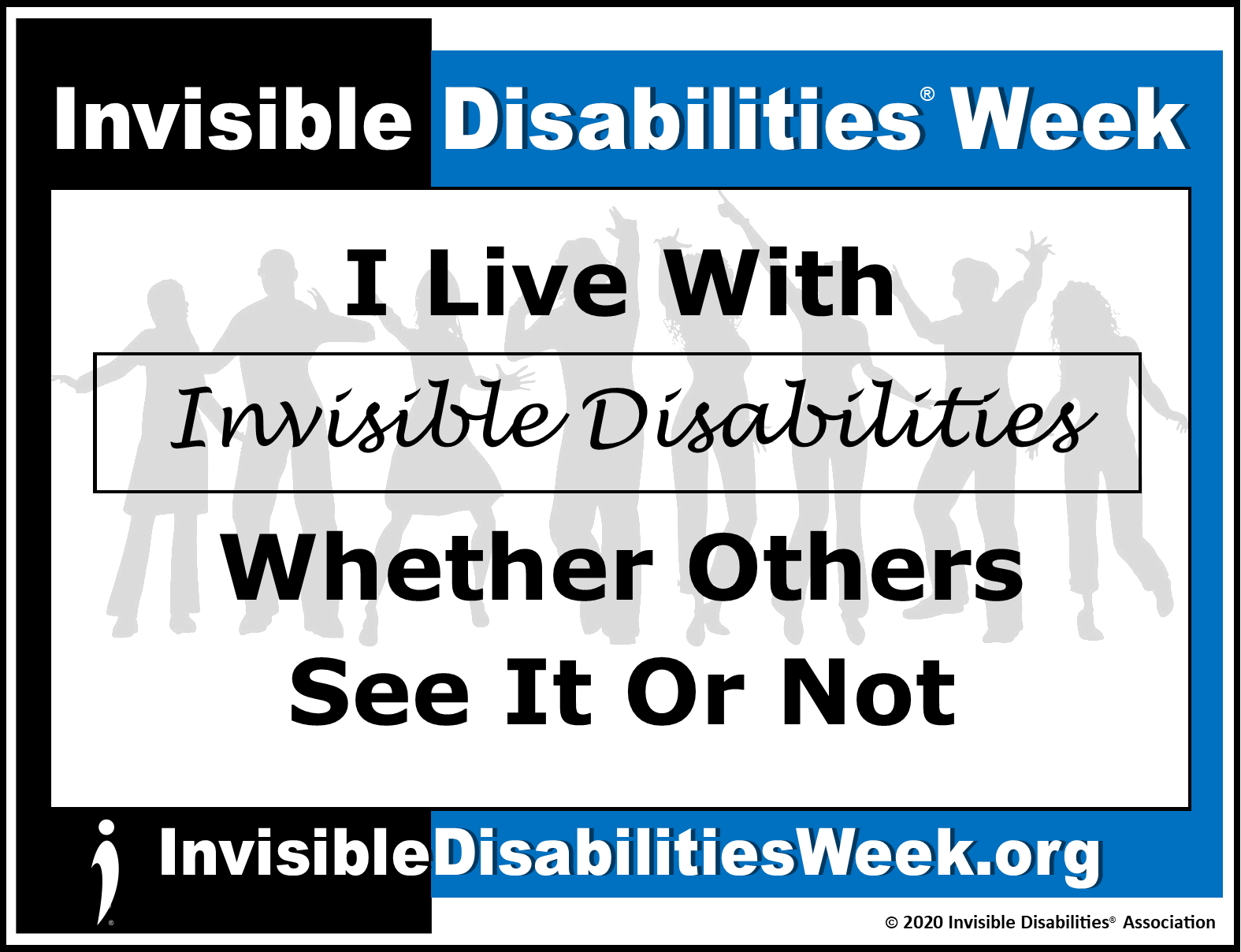 2020 Invisible Disabilities Week Banner ID See or Not - Invisible Disabilities Association