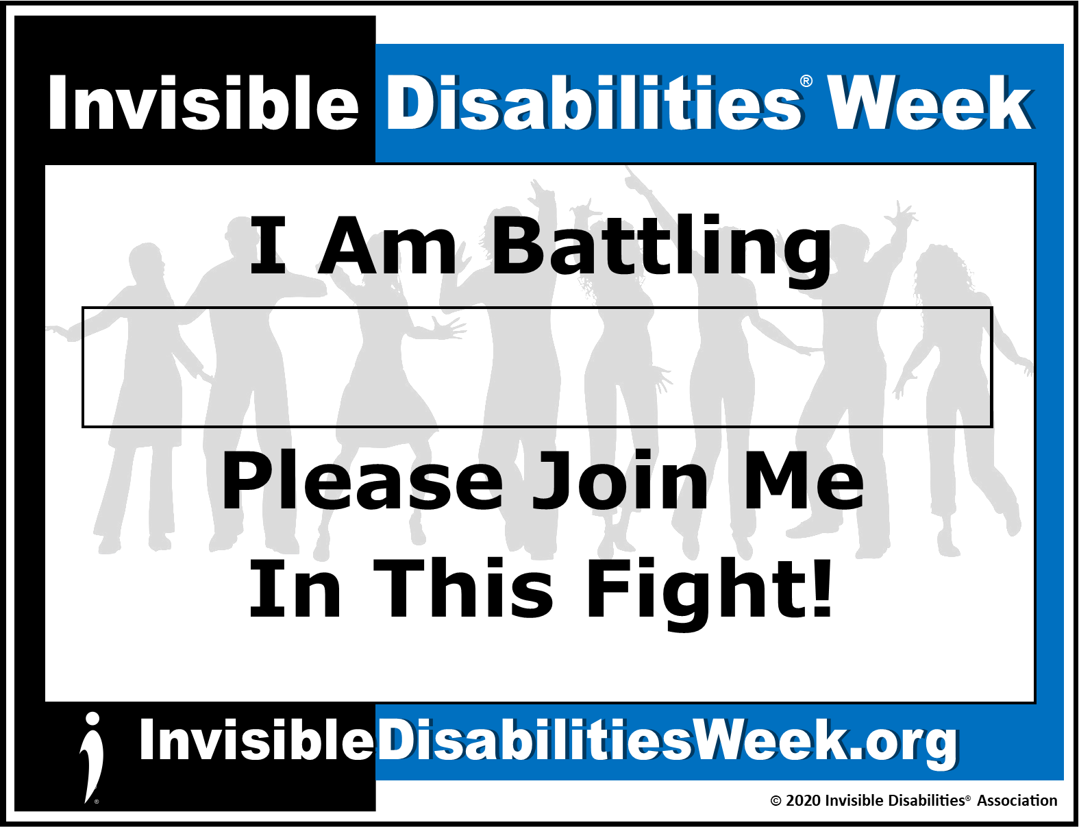 2020 Invisible Disabilities Week Banner Join Fight - Invisible Disabilities Association