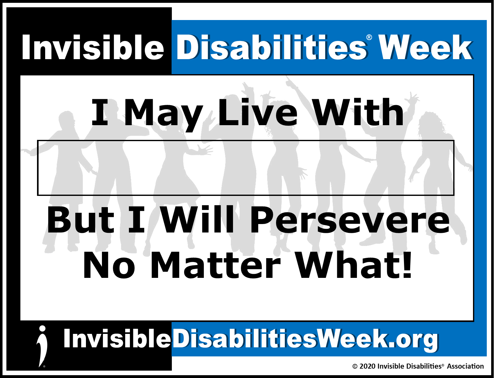 2020 Invisible Disabilities Week Banner Persevere - Invisible Disabilities Association