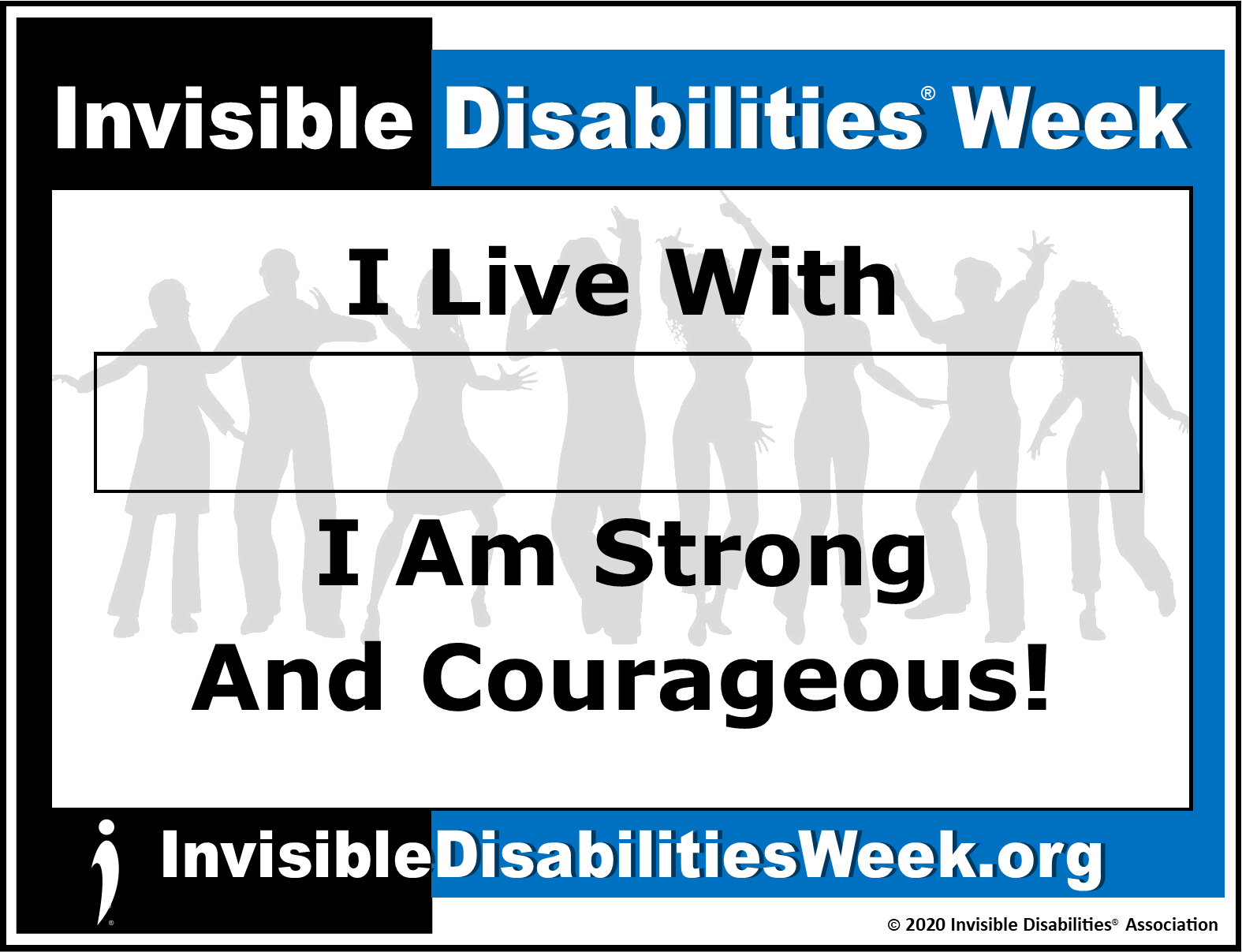 2020 Invisible Disabilities Week Banner Strong - Invisible Disabilities Association
