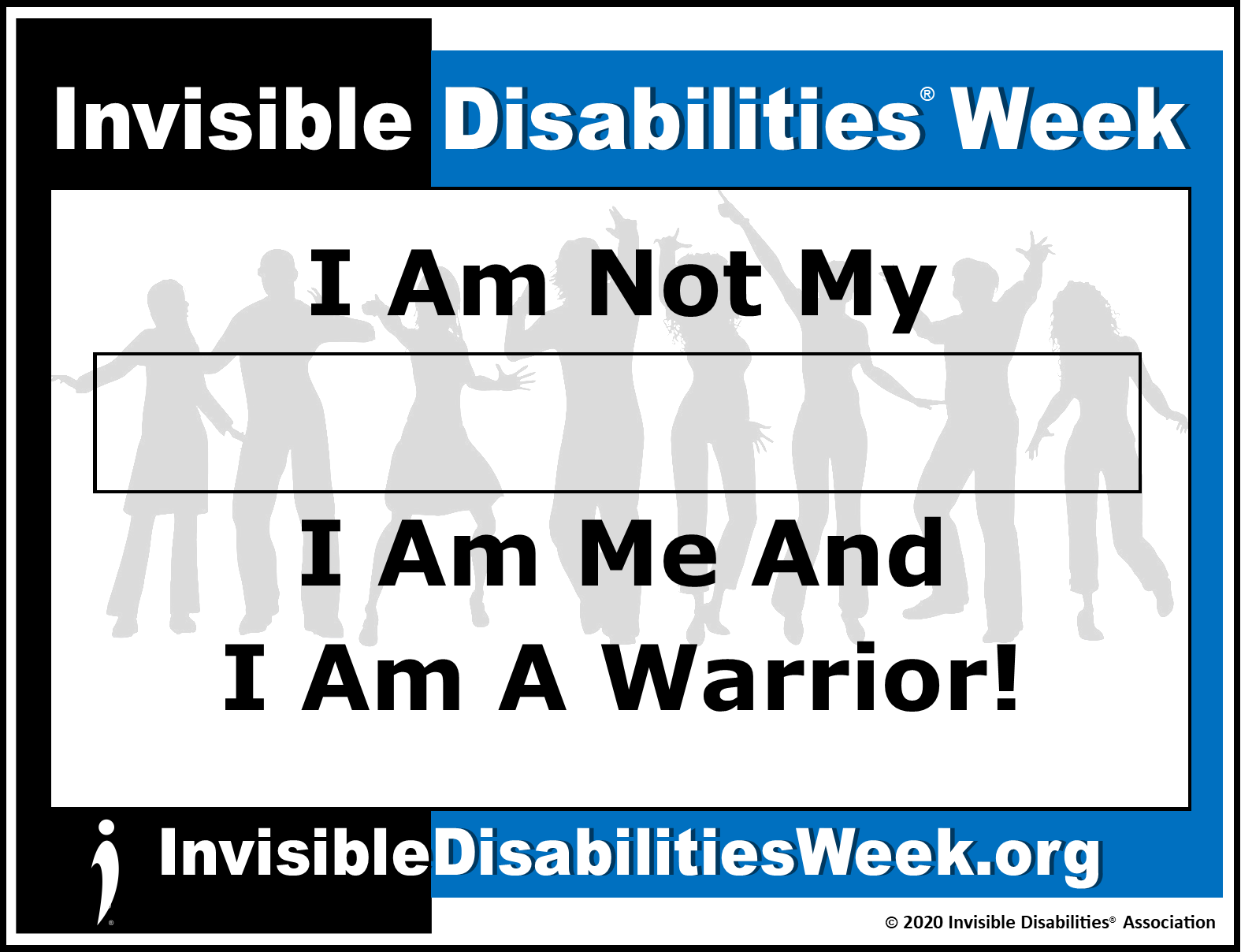 2020 Invisible Disabilities Week Banner Warrior - Invisible Disabilities Association